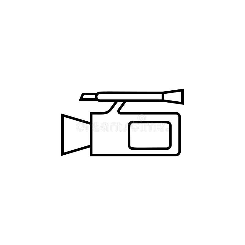 摄象机象 婚礼的元素流动概念和网apps例证的 网站设计和发展的稀薄的线象 库存例证