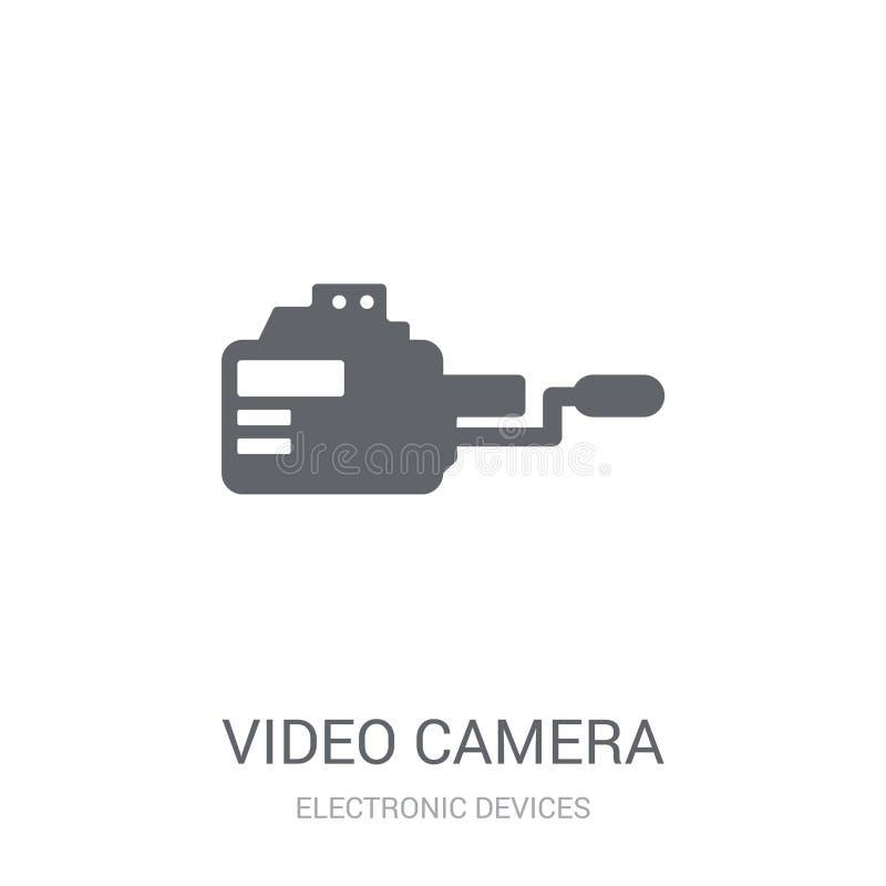 摄象机象  向量例证