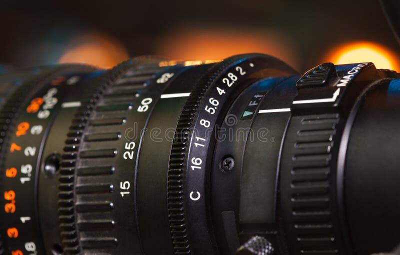 摄象机透镜 库存图片