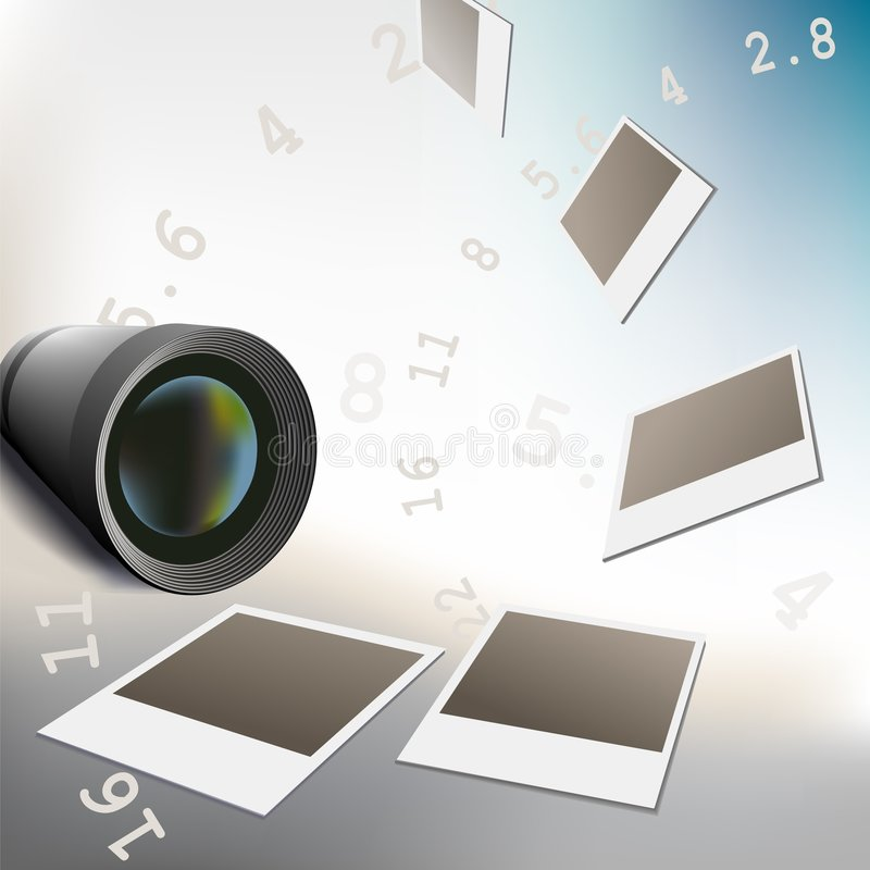 摄象机镜头专业人员 向量例证