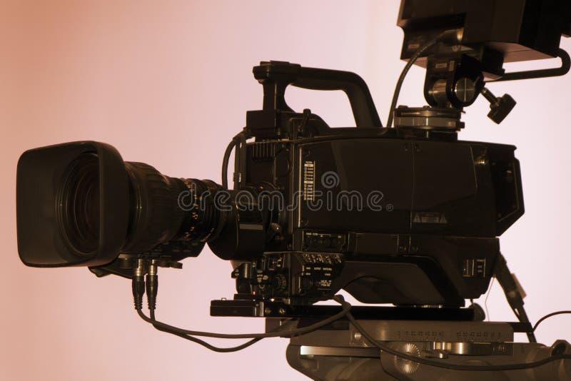 摄象机-录音展示在电视演播室 库存图片