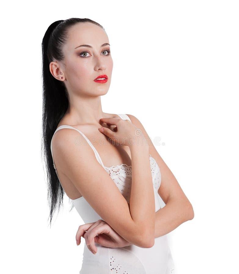 Download 摆在女用贴身内衣裤的一位惊人的小姐的画象 库存照片. 图片 包括有 确信, beauvoir, 方式, 女孩 - 30332520