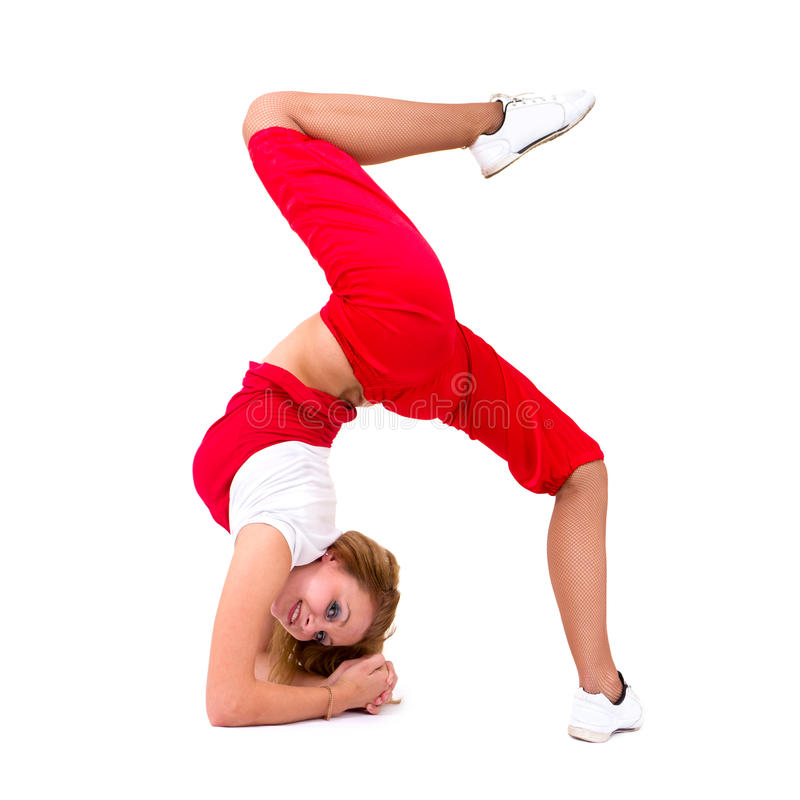 摆在年轻人的舞蹈演员Hip Hop 图库摄影