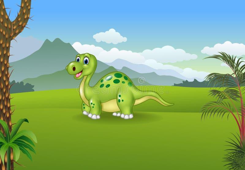 摆在有史前背景的动画片逗人喜爱的恐龙图片