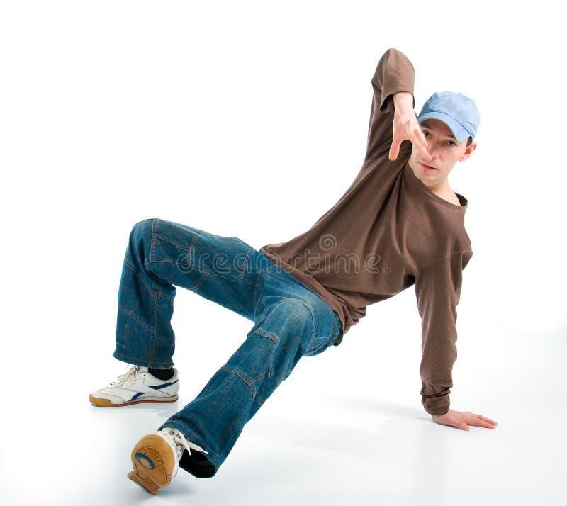 摆在样式的冷静舞蹈演员Hip Hop 免版税库存照片