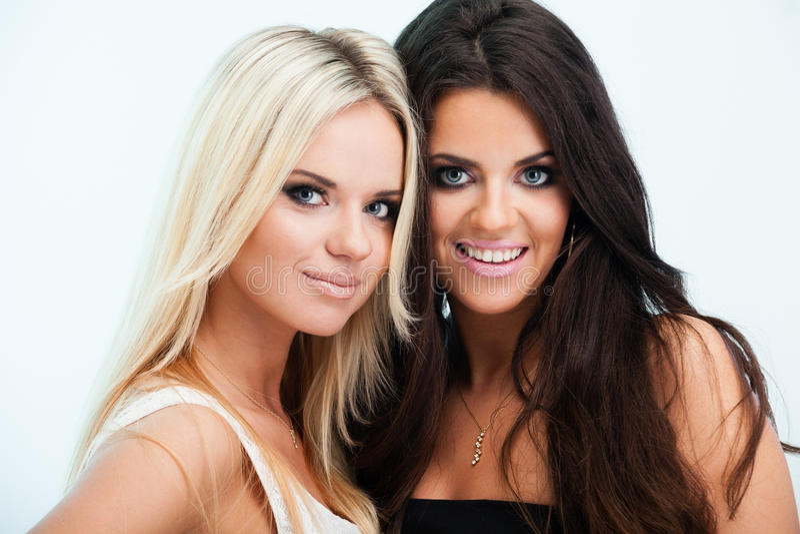 二个女朋友 免版税库存照片