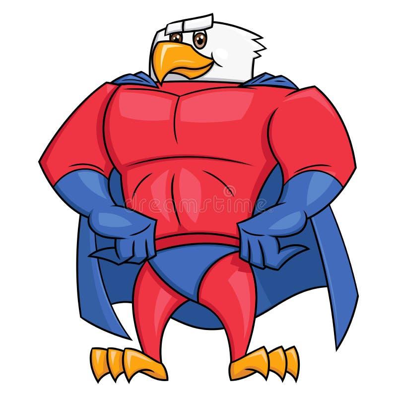 摆在2的老鹰超级英雄 皇族释放例证