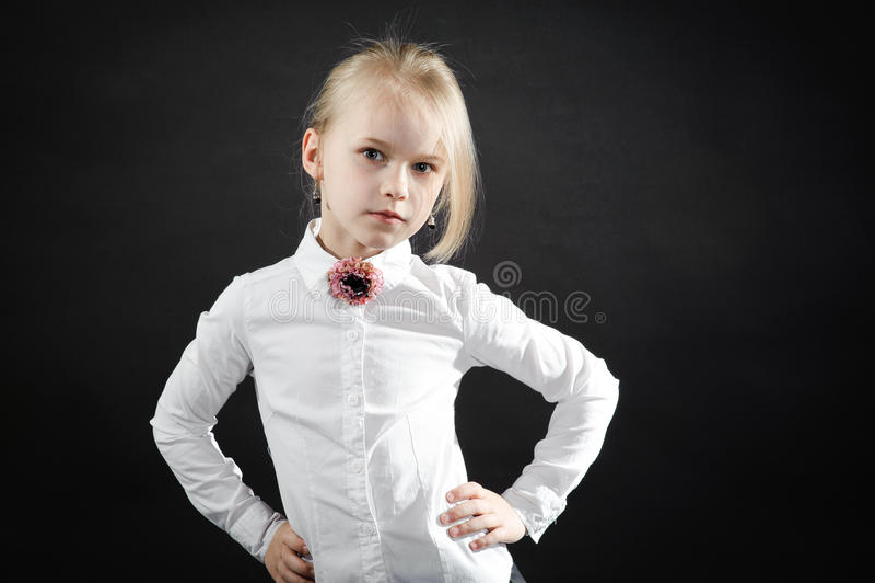 女孩画象  库存图片