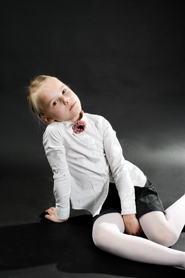 女孩画象  图库摄影