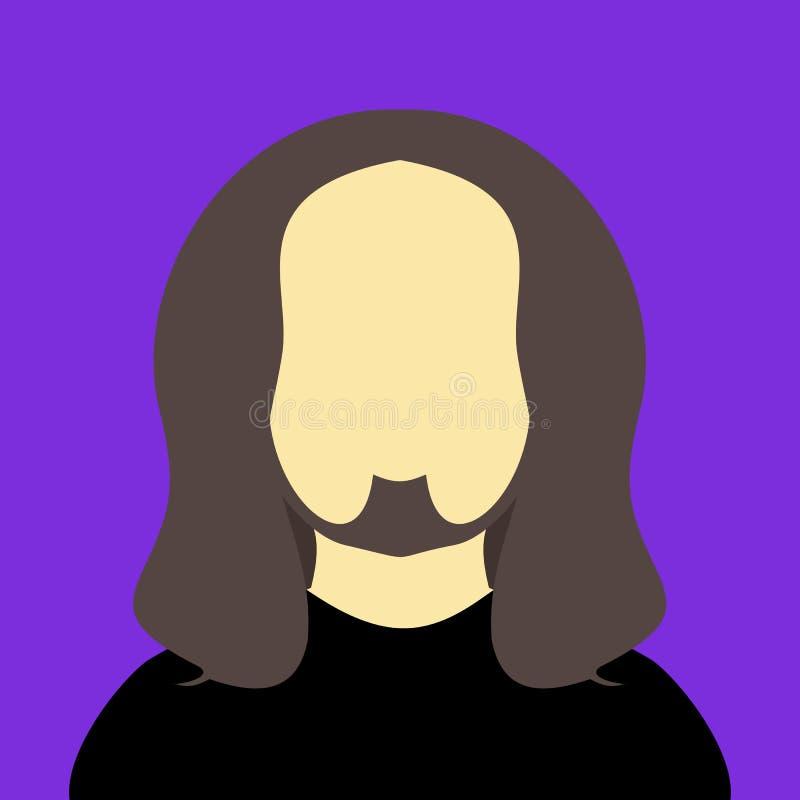 摇摆物人长的头发人传染媒介例证图表背景颜色 库存例证