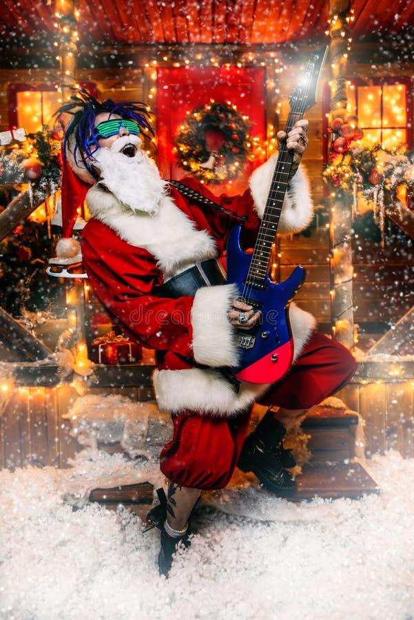 摇摆物圣诞老人 免版税库存照片