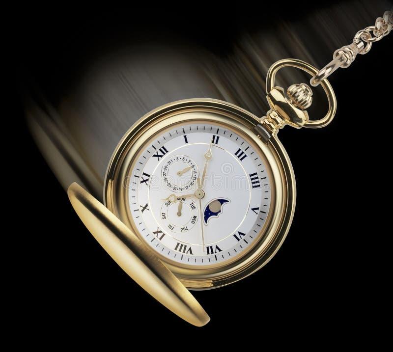 摇摆的posket手表 免版税图库摄影
