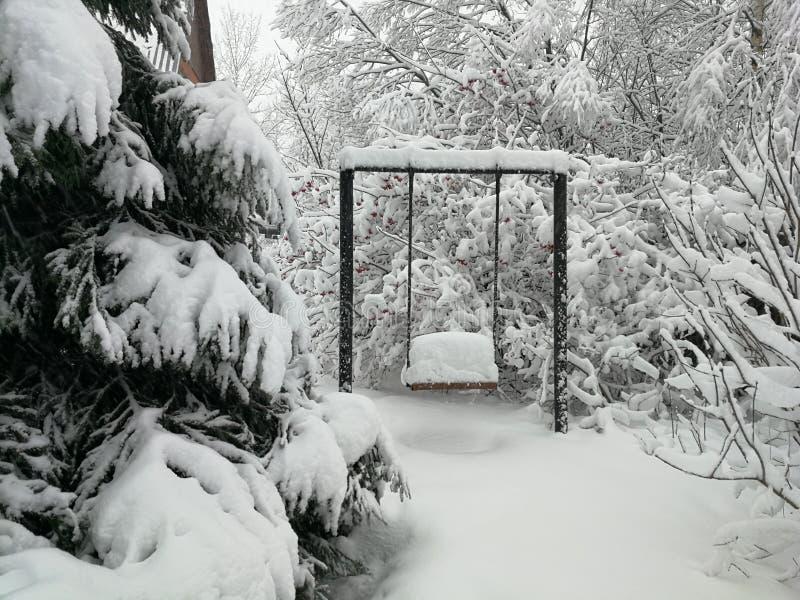 摇摆beried在雪下 免版税库存照片