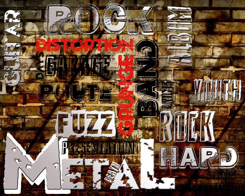 摇滚乐海报 向量例证