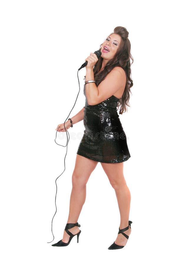 摇滚明星妇女 免版税库存照片