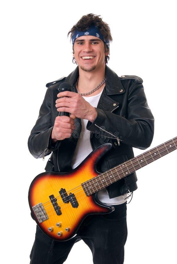 摇滚歌手 库存图片