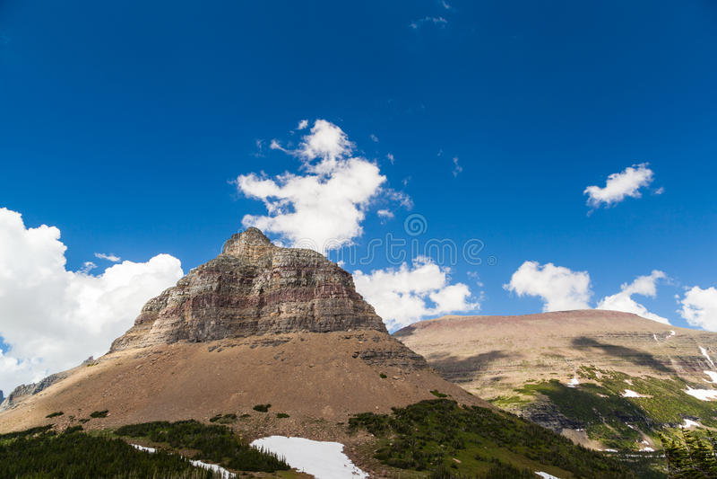 摇石通行证风景风景在冰川国家公园, MT 免版税库存照片