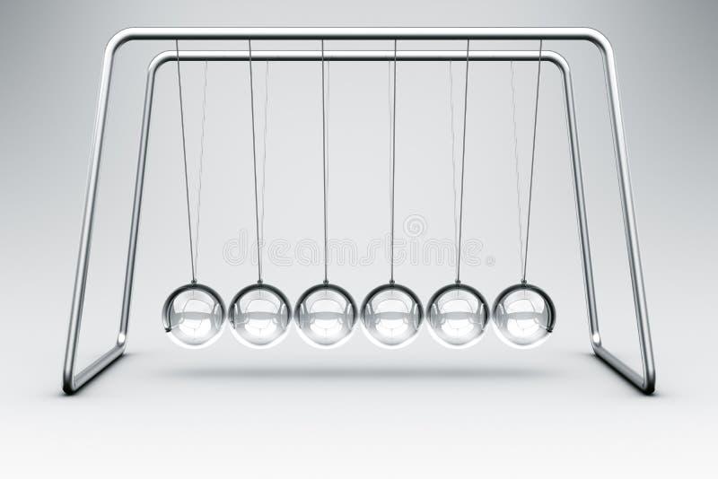 摇篮玻璃做牛顿 库存照片