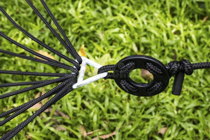 摇篮的摇篮对椰子的 免版税库存图片