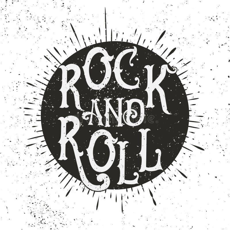 摇滚乐印刷品 库存例证