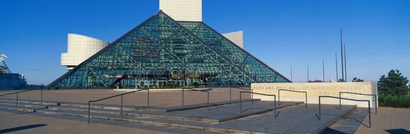 摇滚乐名人堂博物馆,克利夫兰,俄亥俄 免版税图库摄影
