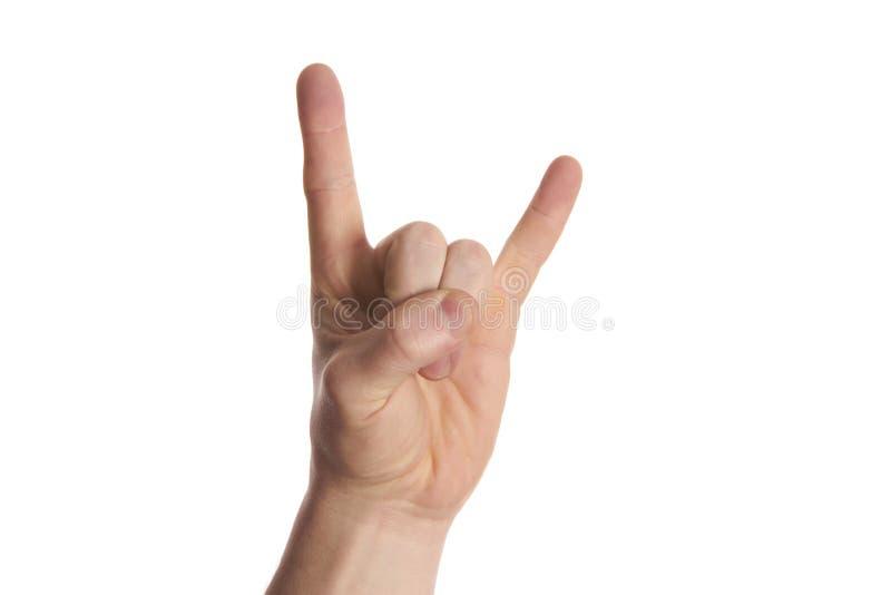 摇滚乐手标志 库存图片