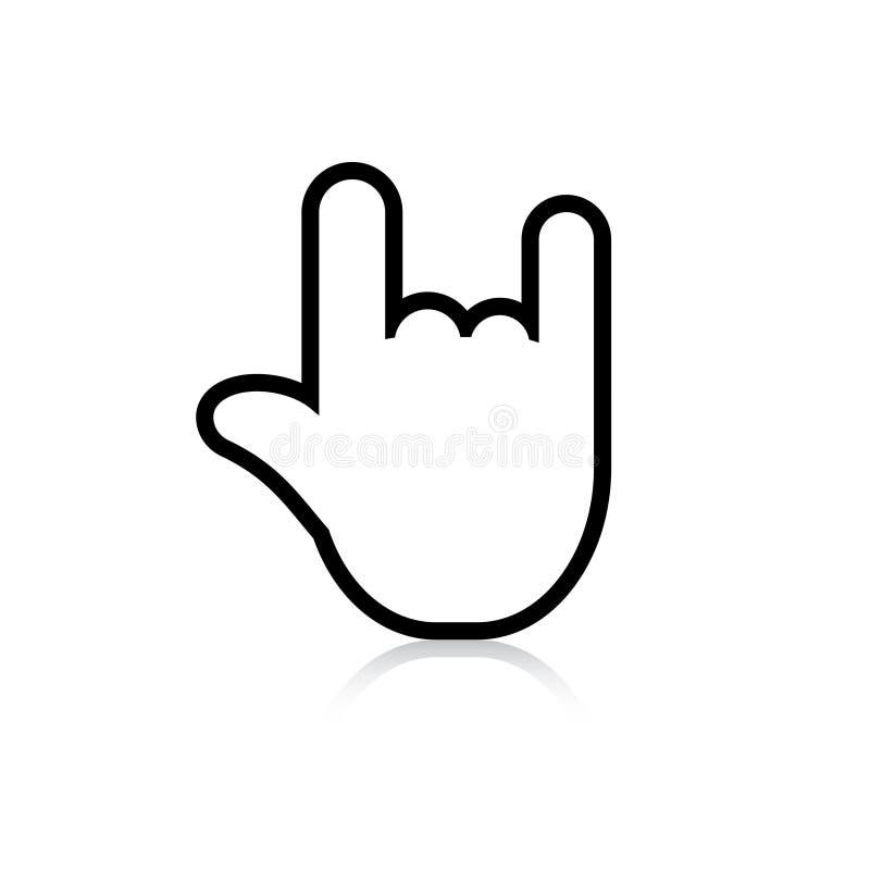 摇滚乐标志 库存例证