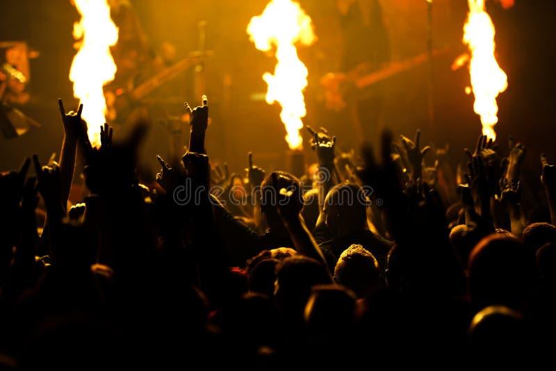 摇滚乐音乐会照片  库存图片