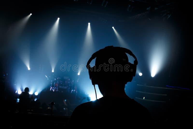 摇滚乐音乐会的合理的经理 免版税库存照片