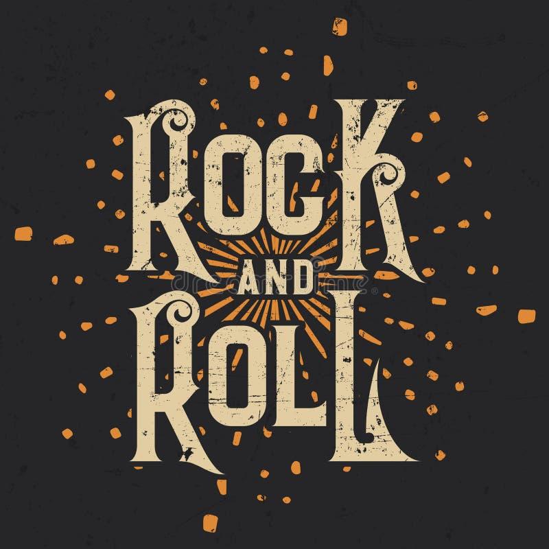 摇滚乐T恤杉图形设计,传染媒介例证 库存照片