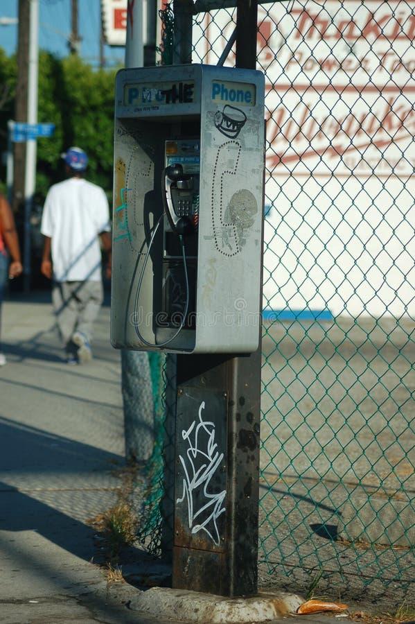 摊电话 库存照片