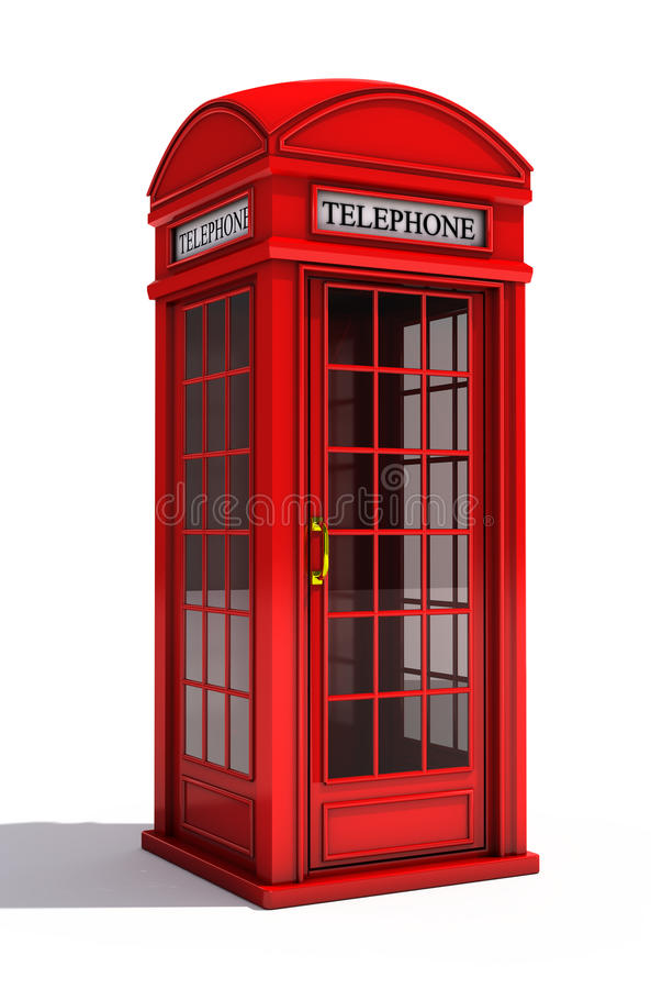 摊英语电话 库存例证