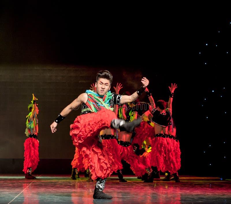 摔跤手这蒙古人这全国民间舞的自豪感 库存照片