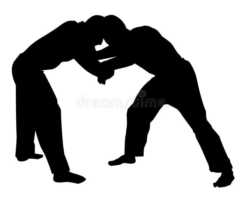 摔跤手 库存例证