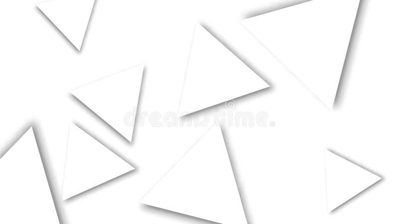 摘要三角几何背景 被削减的纸三角 ?? 库存例证