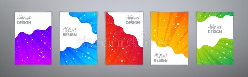 摘要不可思议的五颜六色的明亮的梯度模板 免版税库存图片