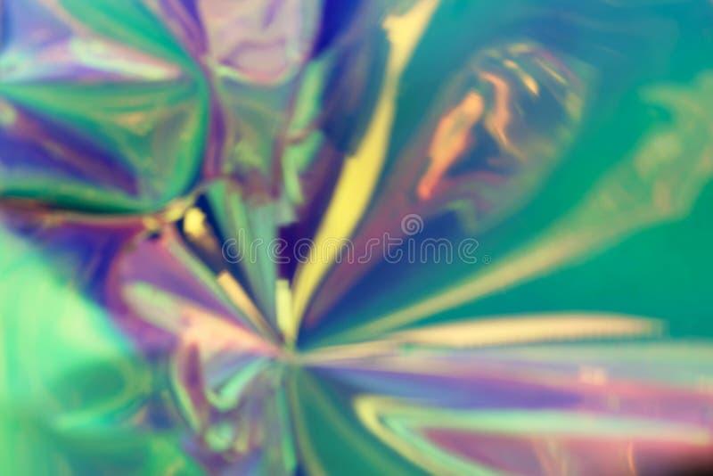 摘要五颜六色的全息照相的材料的被弄脏的照片 ( 免版税图库摄影