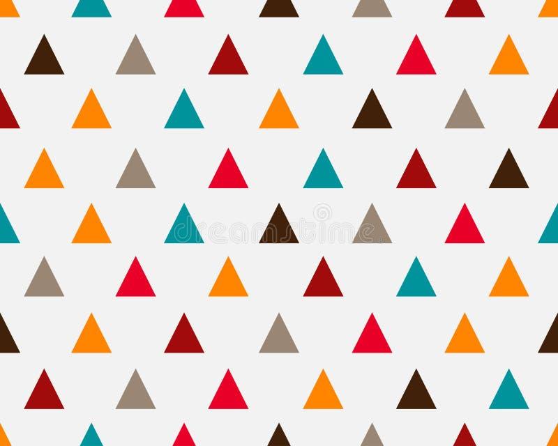 摘要五颜六色的几何三角无缝的样式背景 皇族释放例证