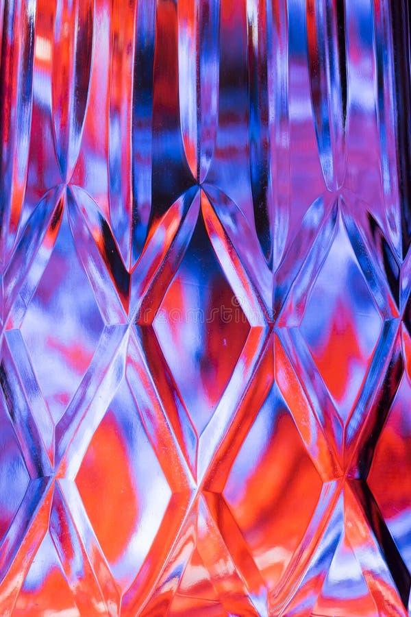 摘要五颜六色的刻花玻璃背景 库存例证