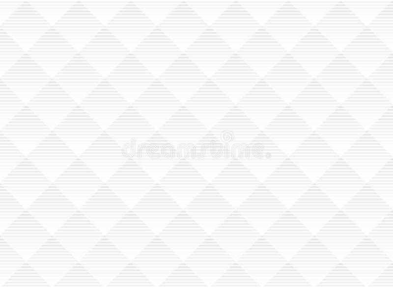 摘要传染媒介白色和灰色微妙的格子样式背景 与单色格子的现代样式 重复几何栅格 向量例证