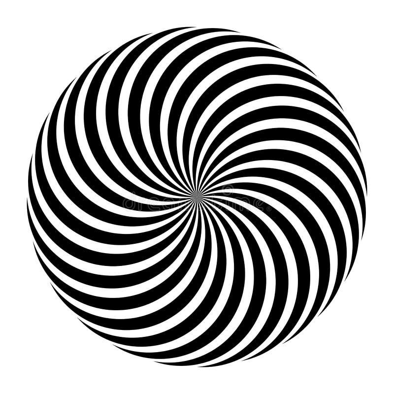 摘要传染媒介黑白坛场装饰品,圆中心设计,例证 库存例证