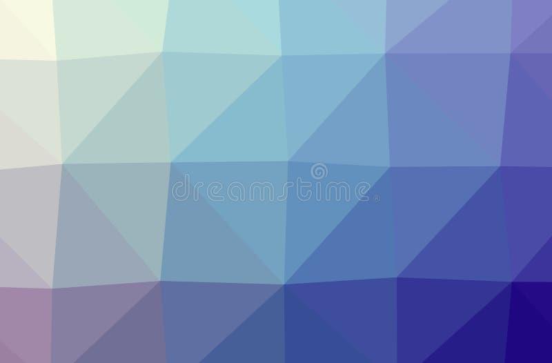 摘要低多蓝色,绿色,黄色和紫色水平的背景的例证 皇族释放例证