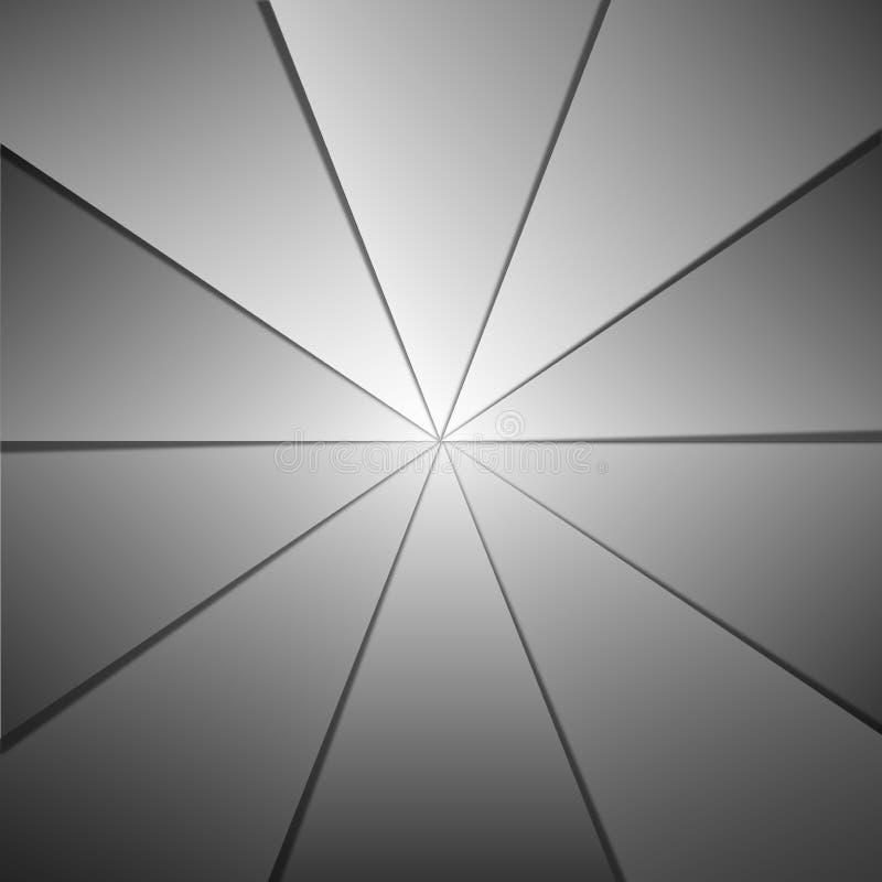 摘要光亮的灰色纸构造几何背景 向量例证