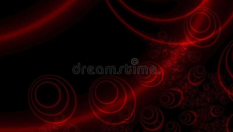 摘要典雅的红色能量未来派背景 焕发光线影响 抽象日出 抽象圈子 抽象被构造的背景颜色数字式展开分数维例证 照亮 向量例证