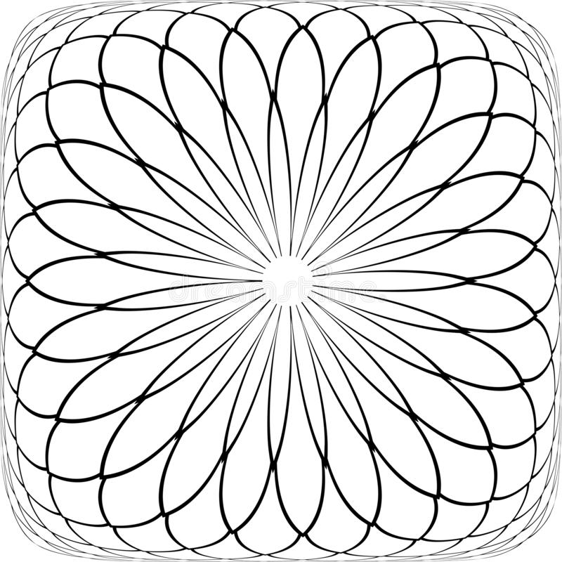 摘要凸面几何样式 r 库存例证