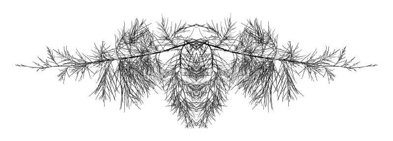 摘要分支结构树 库存图片