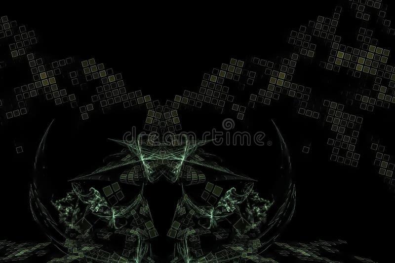 摘要分数维美好的形状纹理动力效应闪闪发光明亮的幻想设计创造性发光未来派 库存例证