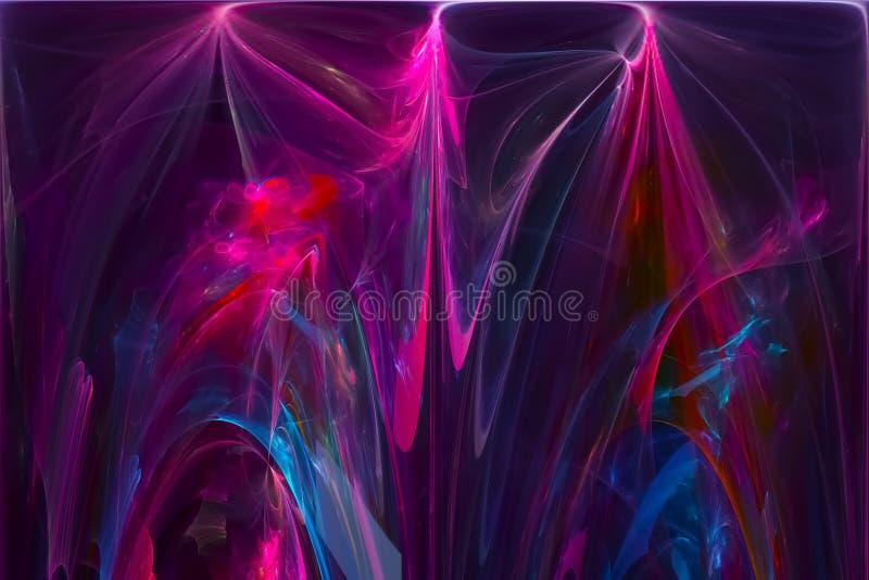 摘要分数维超现实的纹理未来派混乱意想不到的科学火焰设计爆炸创造性发光 皇族释放例证