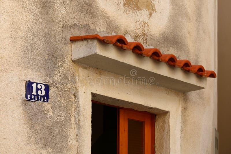 摘要加入房子在克罗地亚 库存图片