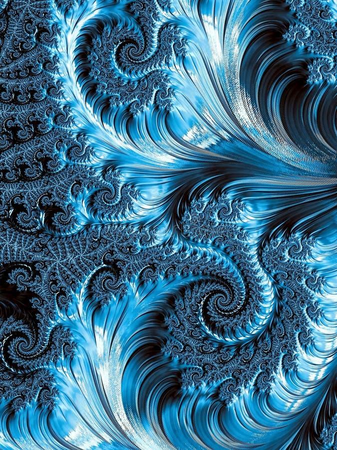 摘要卷毛和螺旋背景-数位引起的imag 库存例证